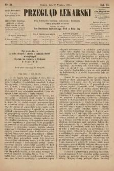 Przegląd Lekarski : organ Towarzystwa Lekarskiego Krakowskiego i Towarzystwa Lekarzy Galicyjskich we Lwowie. 1873, nr39