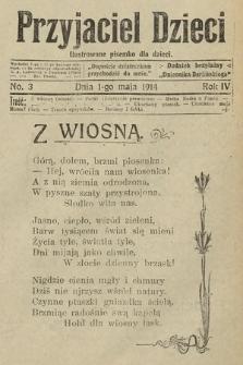 Przyjaciel Dzieci : ilustrowane pisemko dla dzieci : dodatek bezpłatny do Dziennika Berlińskiego. 1914, nr3