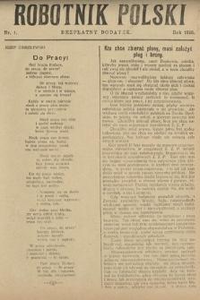 Robotnik Polski : bezpłatny dodatek. 1926, nr1