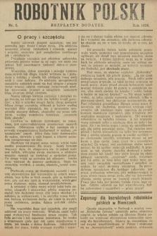 Robotnik Polski : bezpłatny dodatek. 1926, nr5