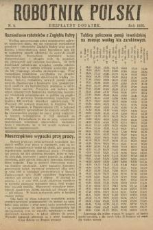 Robotnik Polski : bezpłatny dodatek. 1926, nr9