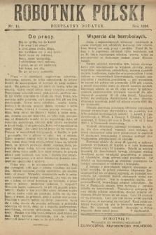 Robotnik Polski : bezpłatny dodatek. 1926, nr11