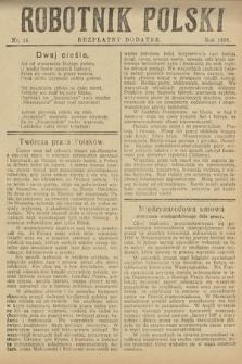 Robotnik Polski : bezpłatny dodatek. 1926, nr14