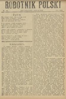 Robotnik Polski : bezpłatny dodatek. 1926, nr18