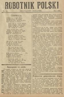 Robotnik Polski : bezpłatny dodatek. 1926, nr19