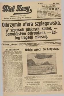 Wiek Nowy : popularny dziennik ilustrowany. 1928, nr8070