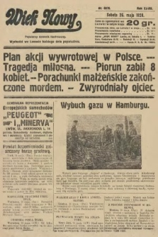 Wiek Nowy : popularny dziennik ilustrowany. 1928, nr8078