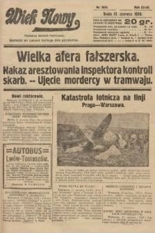 Wiek Nowy : popularny dziennik ilustrowany. 1928, nr8091