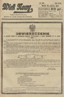 Wiek Nowy : popularny dziennik ilustrowany. 1928, nr8102