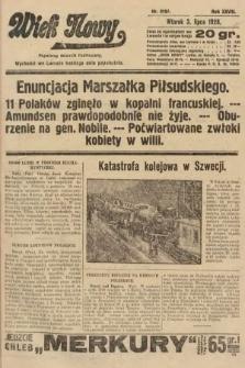 Wiek Nowy : popularny dziennik ilustrowany. 1928, nr8107