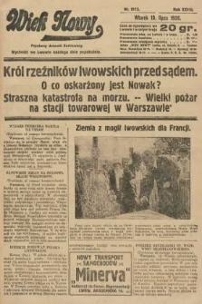 Wiek Nowy : popularny dziennik ilustrowany. 1928, nr8113