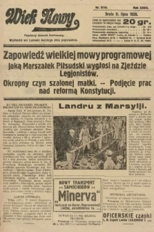 Wiek Nowy : popularny dziennik ilustrowany. 1928, nr8114