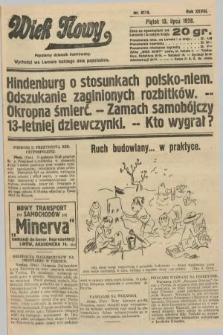 Wiek Nowy : popularny dziennik ilustrowany. 1928, nr8116