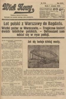 Wiek Nowy : popularny dziennik ilustrowany. 1928, nr8132