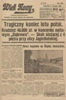 Wiek Nowy : popularny dziennik ilustrowany. 1928, nr8133