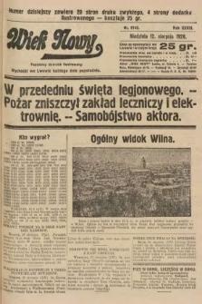 Wiek Nowy : popularny dziennik ilustrowany. 1928, nr8142