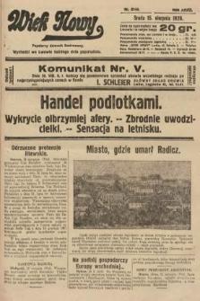 Wiek Nowy : popularny dziennik ilustrowany. 1928, nr8144