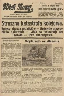Wiek Nowy : popularny dziennik ilustrowany. 1928, nr8146