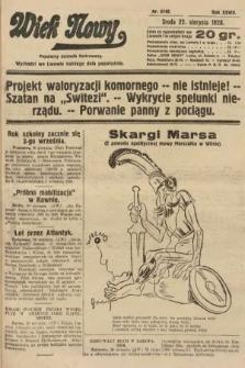 Wiek Nowy : popularny dziennik ilustrowany. 1928, nr8149