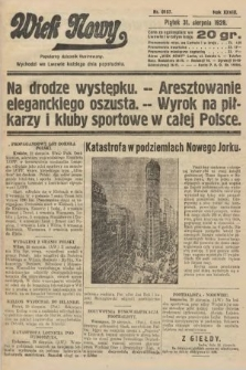 Wiek Nowy : popularny dziennik ilustrowany. 1928, nr8157