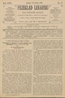 Przegląd Lekarski : Organ Towarzystw Lekarskich Krakowskiego i Galicyjskiego. 1890, nr8