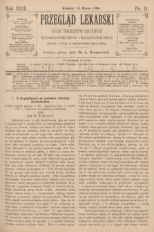 Przegląd Lekarski : Organ Towarzystw Lekarskich Krakowskiego i Galicyjskiego. 1890, nr11