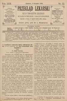 Przegląd Lekarski : Organ Towarzystw Lekarskich Krakowskiego i Galicyjskiego. 1890, nr32