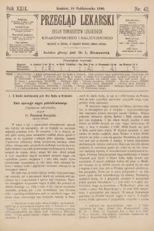 Przegląd Lekarski : Organ Towarzystw Lekarskich Krakowskiego i Galicyjskiego. 1890, nr42