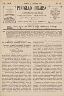 Przegląd Lekarski : Organ Towarzystw Lekarskich Krakowskiego i Galicyjskiego. 1890, nr48