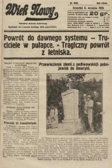 Wiek Nowy : popularny dziennik ilustrowany. 1928, nr8162