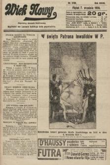 Wiek Nowy : popularny dziennik ilustrowany. 1928, nr8163