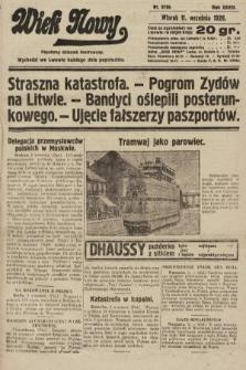 Wiek Nowy : popularny dziennik ilustrowany. 1928, nr8166
