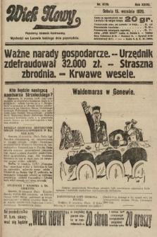 Wiek Nowy : popularny dziennik ilustrowany. 1928, nr8170