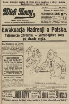 Wiek Nowy : popularny dziennik ilustrowany. 1928, nr8171