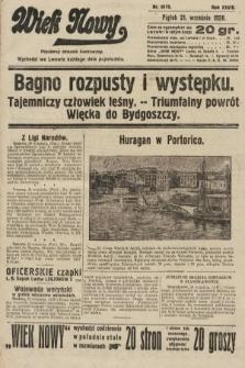 Wiek Nowy : popularny dziennik ilustrowany. 1928, nr8175