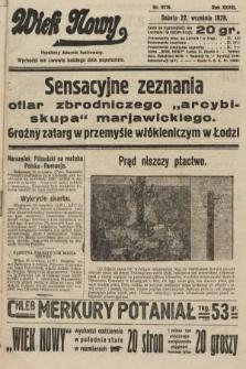 Wiek Nowy : popularny dziennik ilustrowany. 1928, nr8176