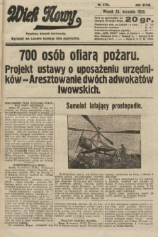 Wiek Nowy : popularny dziennik ilustrowany. 1928, nr8178