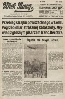 Wiek Nowy : popularny dziennik ilustrowany. 1928, nr8198