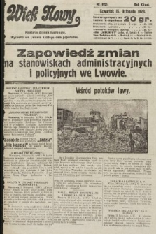 Wiek Nowy : popularny dziennik ilustrowany. 1928, nr8221