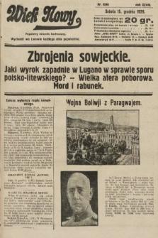 Wiek Nowy : popularny dziennik ilustrowany. 1928, nr8246