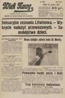 Wiek Nowy : popularny dziennik ilustrowany. 1928, nr8256