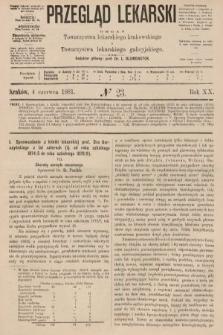 Przegląd Lekarski : organ Towarzystwa lekarskiego krakowskiego i Towarzystwa lekarzy galicyjskich. 1881, nr23