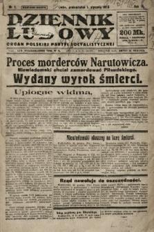 Dziennik Ludowy : organ Polskiej Partyi Socyalistycznej. 1923, nr1