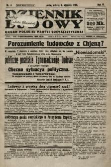 Dziennik Ludowy : organ Polskiej Partyi Socyalistycznej. 1923, nr4