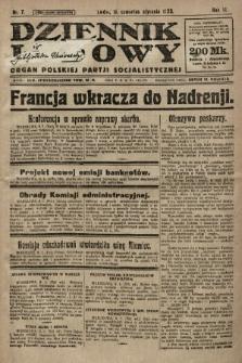 Dziennik Ludowy : organ Polskiej Partji Socjalistycznej. 1923, nr7