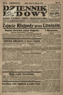 Dziennik Ludowy : organ Polskiej Partji Socjalistycznej. 1923, nr12