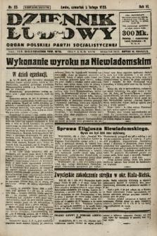 Dziennik Ludowy : organ Polskiej Partji Socjalistycznej. 1923, nr25