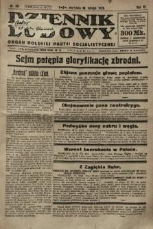 Dziennik Ludowy : organ Polskiej Partji Socjalistycznej. 1923, nr39