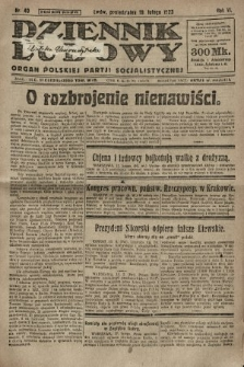 Dziennik Ludowy : organ Polskiej Partji Socjalistycznej. 1923, nr40