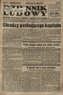 Dziennik Ludowy : organ Polskiej Partji Socjalistycznej. 1923, nr41